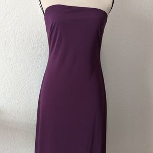 Express size 7/8 a symmetrical eggplant dress.